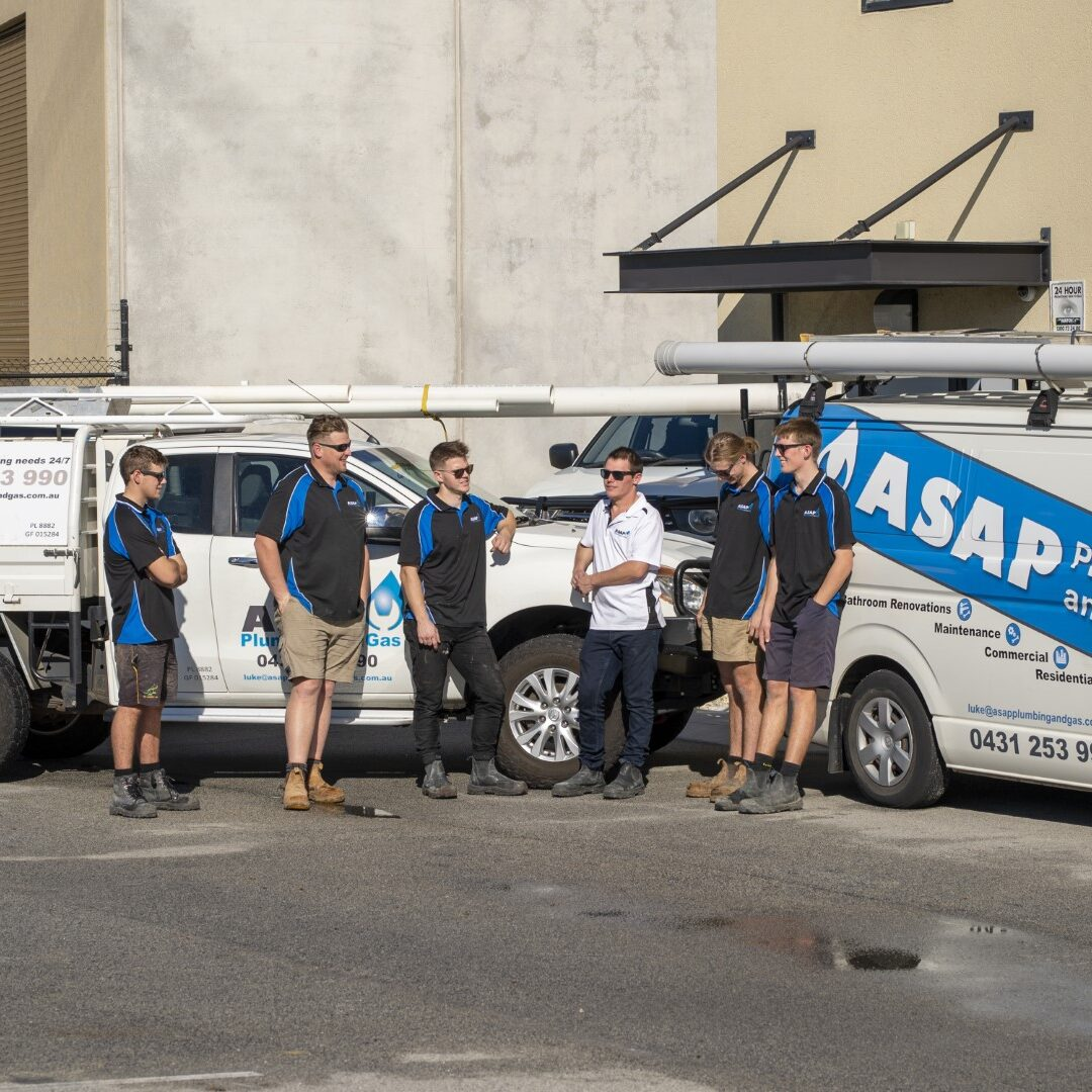 ASAP plumbing and gas team photo